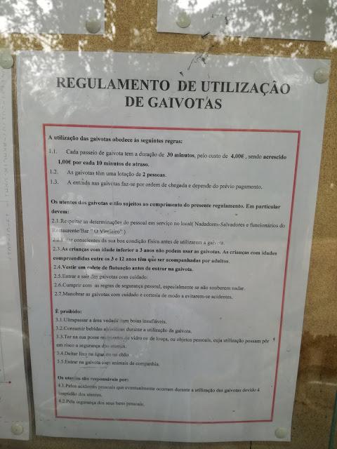 REGULAMENTO DE UTILIZAÇÃO DE GAIVOTAS