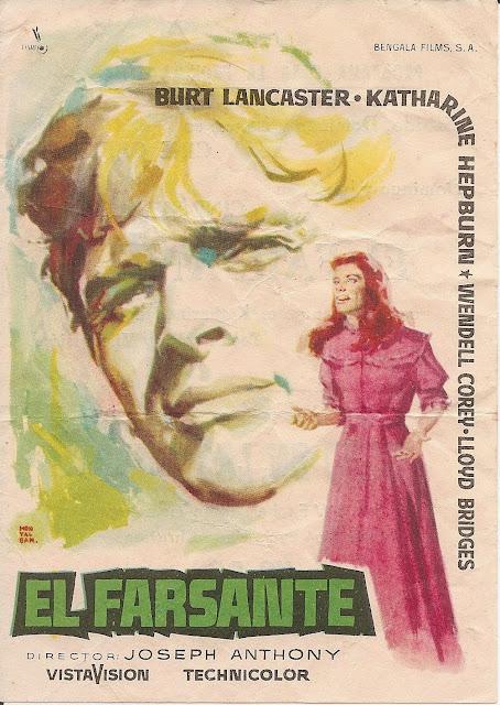 Programa de Cine - El Farsante - Katharine Hepburn - Burt Lancaster