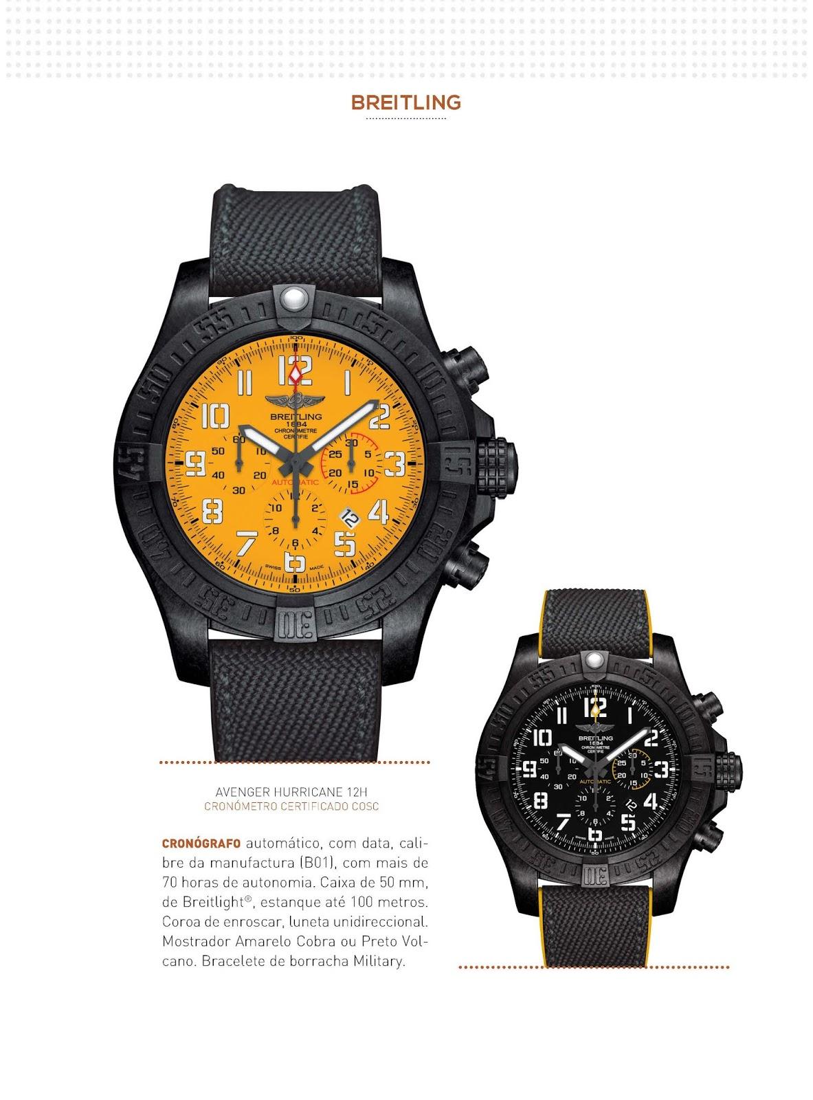 eb3b9da3850 Estação Cronográfica  Os relógios Breitling no Relógios   Canetas online