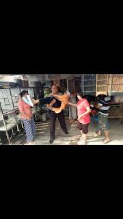 Aksi Heroik IPDA Turiman Bantu Warga Sakit di Pelataran Toko