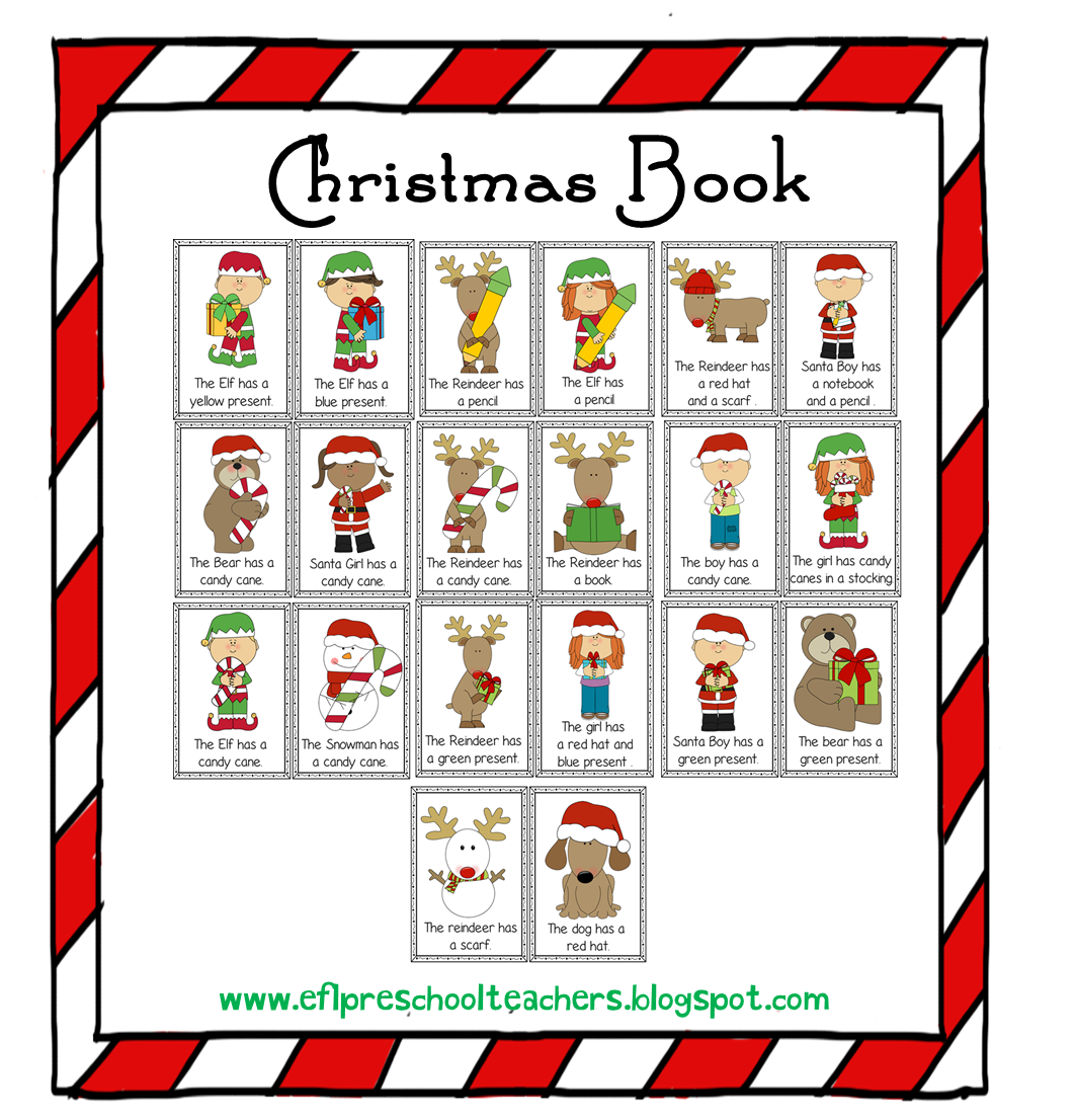 Esl Efl Preschool Teachers Christmas Activities For