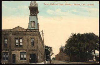 Image: Oshawa Town Hall and Williams Piano Works, ca 1900. Source: Ontario.ca
