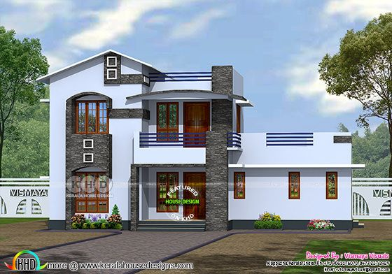 South Facing Home Front Elevation : House plan suit for east and south facing land kerala