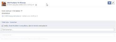 status facebook di like banyak