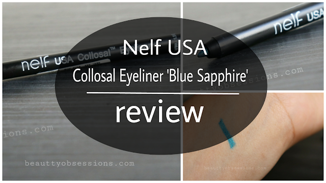 Nelf USA Colossal Eyeliner Blue Sapphire Review and Swatches