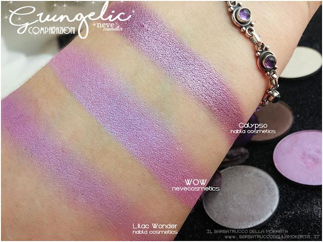 WOW comparazioni eyeshadow ombretti packaging Neve cosmetics  recensione, pareri, makeup, consigli, comparazioni
