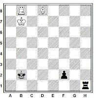 Estudio artístico de ajedrez de Harold Maurice Lommer, L'Italia scacchistica, 1933