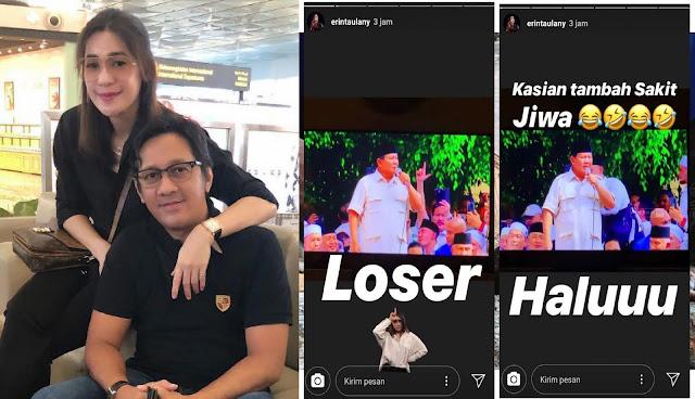 Postingan Viral Karena Dianggap Hina Prabowo, Istri Andre Taulany Matikan Kolom Komentar