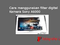 Cara menggunakan filter digital Sony A6000