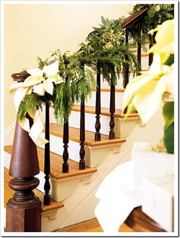 Escaleras decoradas por navidad colores en casa - Escaleras decoradas en navidad ...
