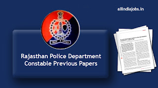Rajasthan Police Department Constable Previous Papers