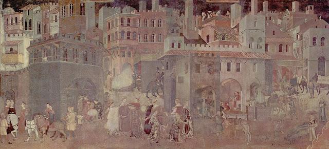Os Efeitos do Bom Governo - Gênios da Pintura ~ Estilo Gótico ~ Ambrogio de Lorenzetti