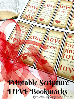 Scripture Valentine Bookmarks @michellepaigeblogs.com
