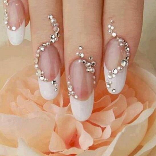 Bride nail arts