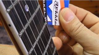 how to setup truss rod without feeler gauges. Black Bedroom Furniture Sets. Home Design Ideas