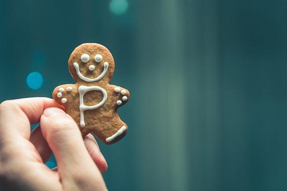 Galletas de jenjibre. Gingerbread man. Dulce tipico navideño. Suecia