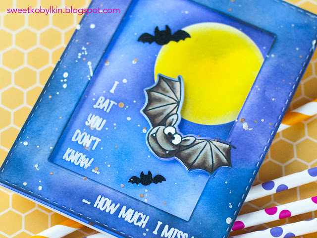 Video Tutorial: Making A Framed Card with Partial Die Cutting with Gerda Steiner Designs Bats