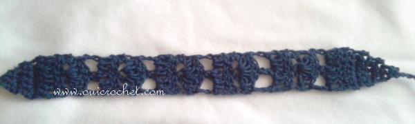 #OuiCrochet, Crochet, Crochet Accessories, Crochet Headband, Crochet Tie Headband, Free Crochet Pattern, Climbing Fans Tie Headband,