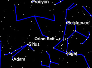 orion sirius betelgeuse procyon riegel