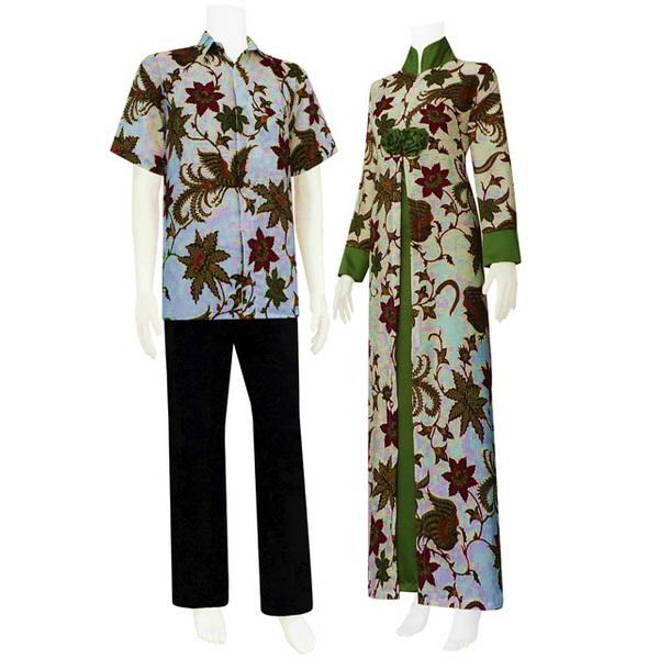 Dalam Lemari 1 Terdapat 4 Kemeja Batik: Model Gamis Batik Kombinasi
