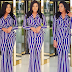 Beautiful Actress, Chika Ike Flaunts Her Hot Body As She Steps Out In Lovely Stripped Pantsuit