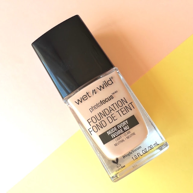 wet n wild photo focus foundation fondöten nude ivory
