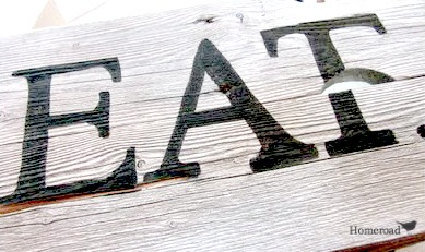 EAT lettering on the crate