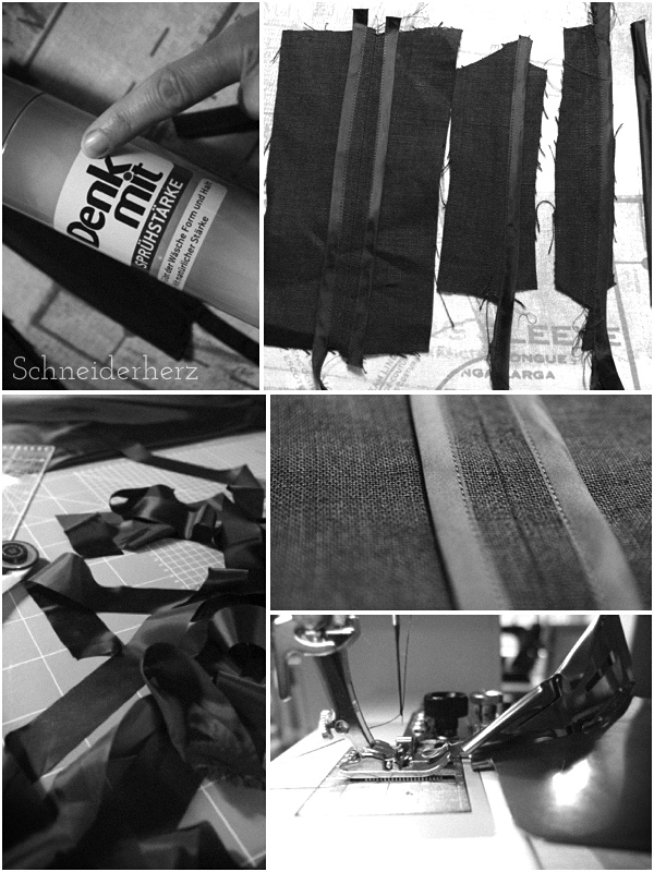 Hongkongnähte Probenähte Bandeinfasser Bernina #88 #87
