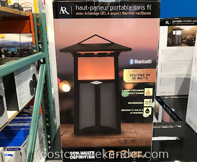 Costco 1311202 - Acoustic Research Flame Outdoor Flame Speaker lets you set the mood with audio and visual accents
