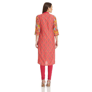 Cashback on Red Pink Rangriti Kurta by FashionDiya