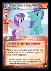 My Little Pony Open Skies & Clear Skies, Cloud Movers Equestrian Odysseys CCG Card
