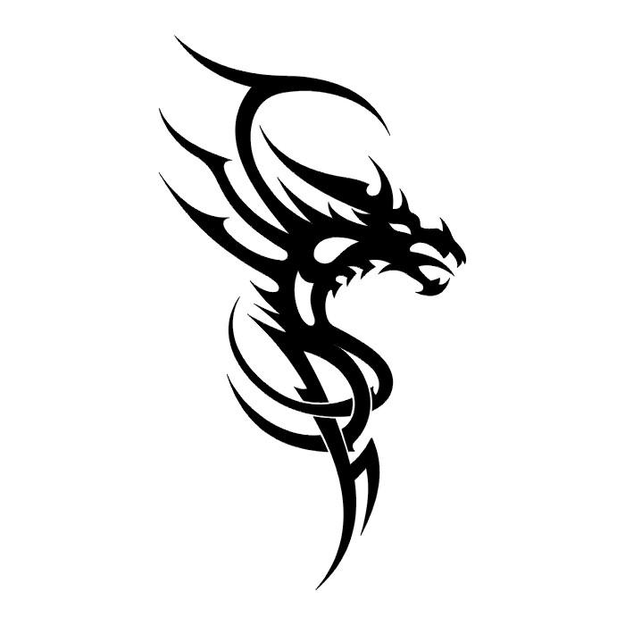 dragon head stencil designs