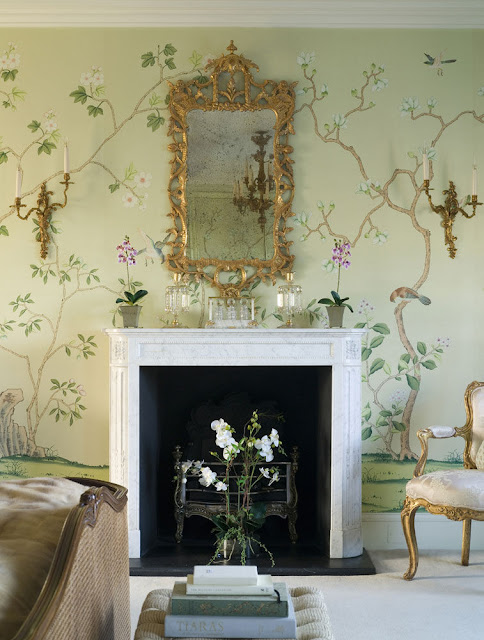 Wallpaper-Installation-Chinoiserie-Chic: Dining Room in Nashville, TN