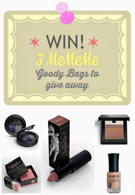 WIN! Three MeMeMe Cosmetics Goody Bags to Give Away (Ireland & UK)