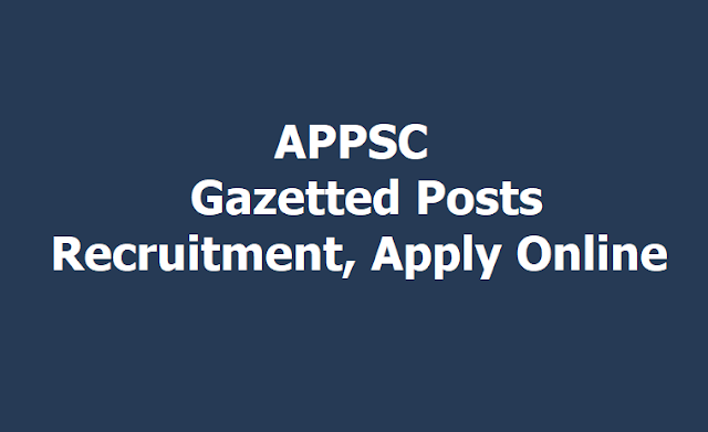 APPSC Gazetted Posts