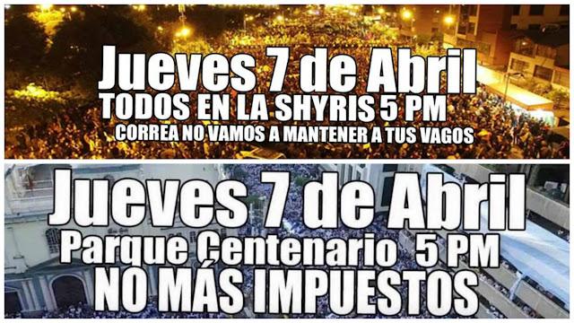marchas protesta ecuador #7A