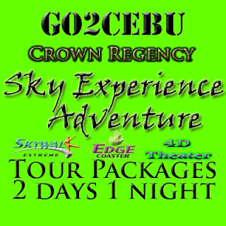 Crown Regency Sky Experience Adventure in Cebu Tour Itinerary 2 Days 1 Night Package (Check-in at Shangri-La Mactan Resort & Spa)