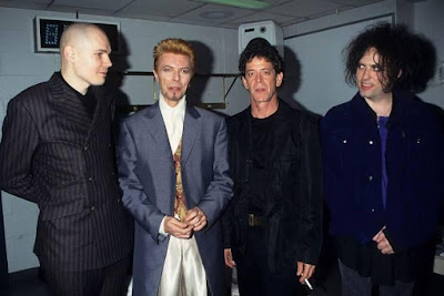 Billy Corgan (Smashing Pumpkins), David Bowie, Lou Reed y Robert Smith
