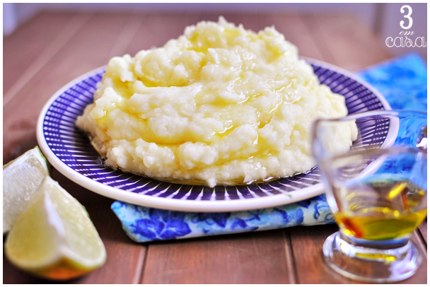 receita pure batata alho