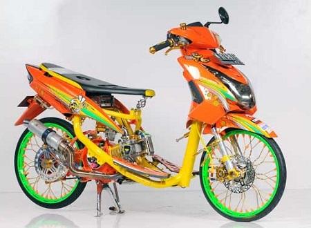 modifikasi motor yamaha Soul GT