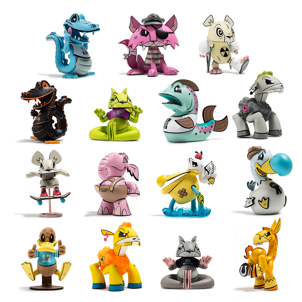 "Joe Ledbetter x Kidrobot Pink Teeter 6/"" Vinyl Figure"