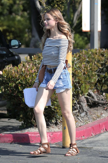 Halston Sage in Shorts out in Hollywood