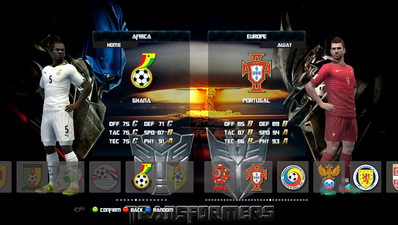 PES 2013 Graphic Patch Transformers + Video Backgound by Ca Can