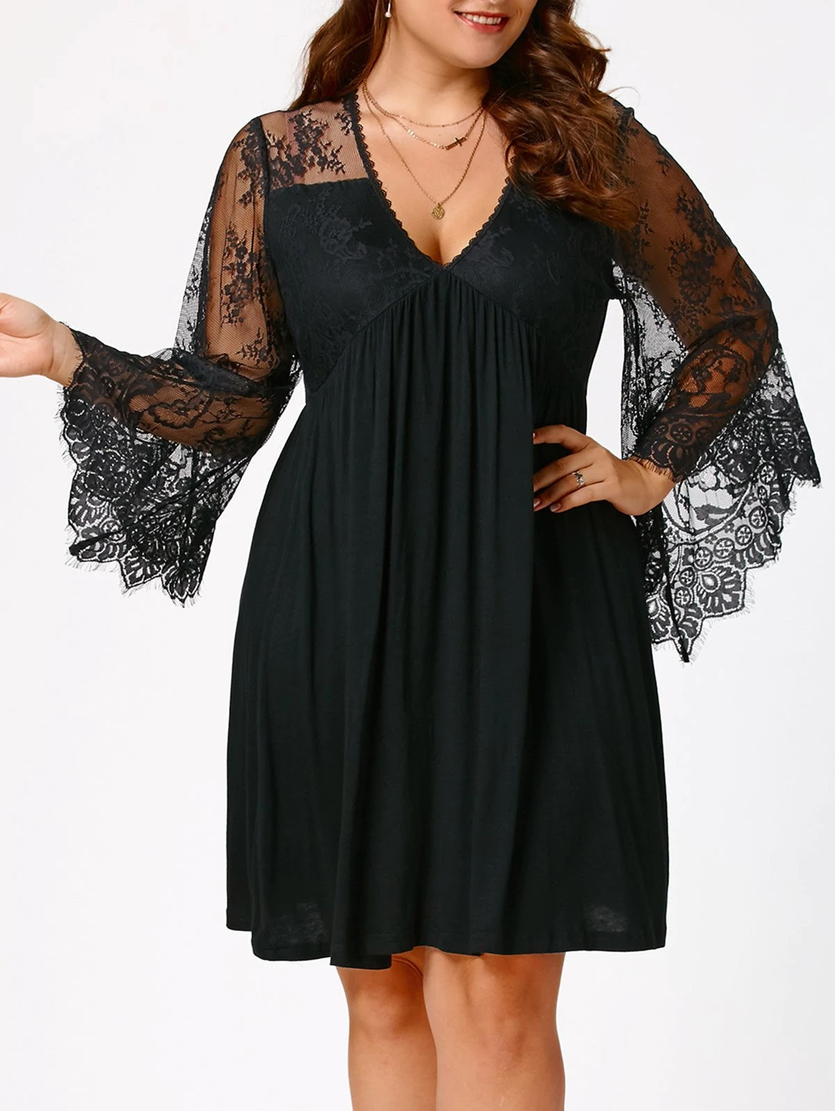 Empire Waist Plus Size Tunic Dress