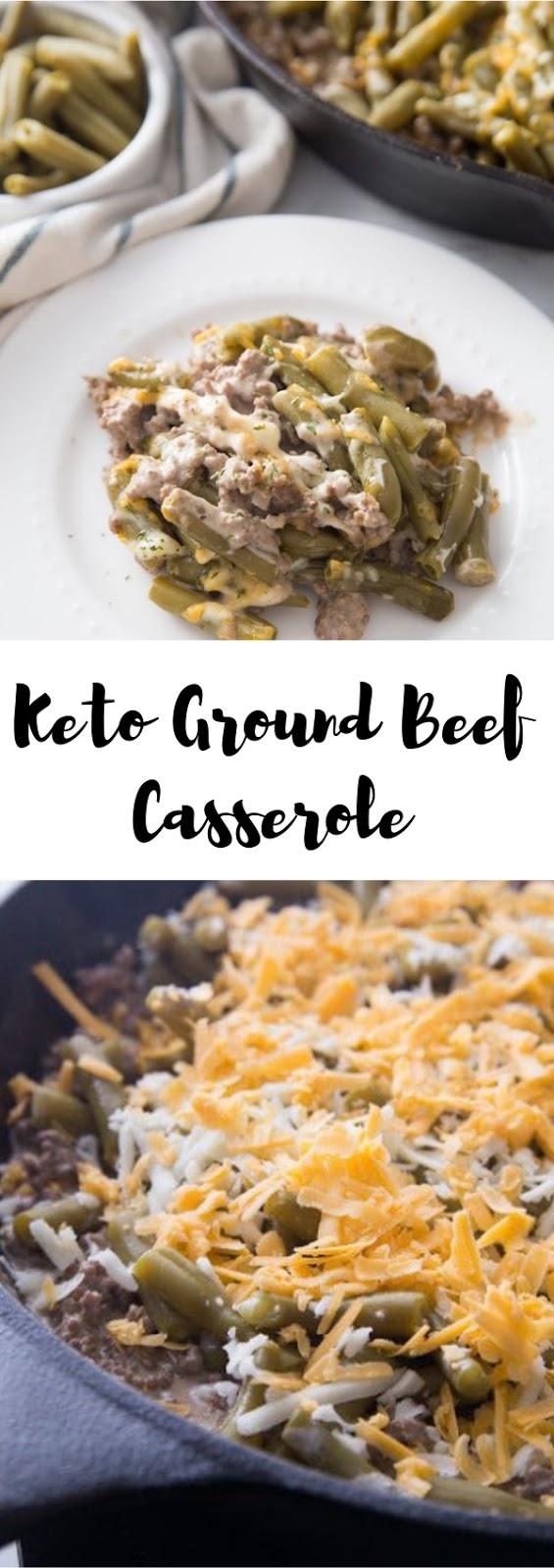 Keto Ground Beef Casserole #maincourse #dinner #keto #ground #beef #casserole