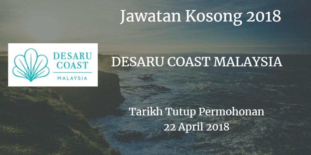 Jawatan Kosong DESARU COAST MALAYSIA 22 April 2018