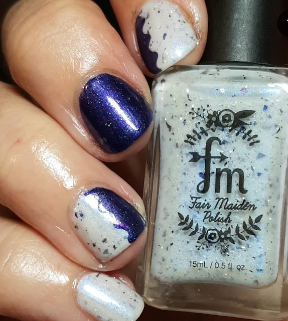 fair maiden polish, bluebird lacquer, falcor, polish pick up, flakies
