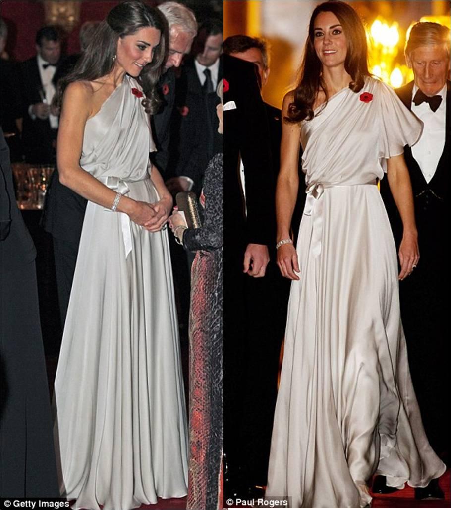 Kate Middleton Duchess Of Cambridge Wears Jenny Packham