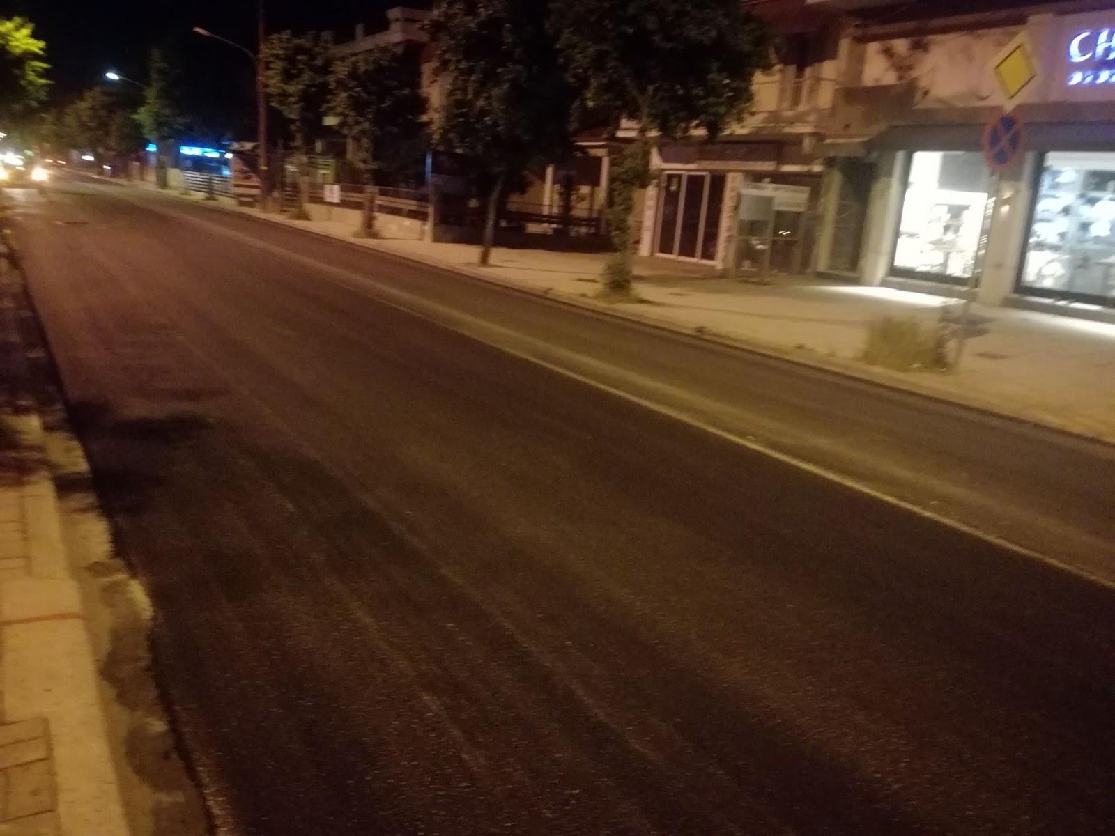 Ολοκληρώθηκε η ασφαλτόστρωση της οδού Φαρσάλων στη Λάρισα