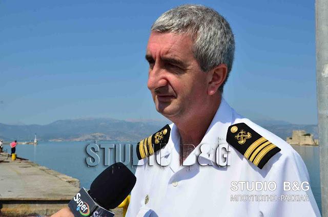 Ευχαριστίες του Λιμενάρχη Ναυπλίου για την επιτυχή έκβαση του περιστατικού με την βύθιση του σκάφους